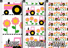 Load image into Gallery viewer, Pink Tractor Fabric