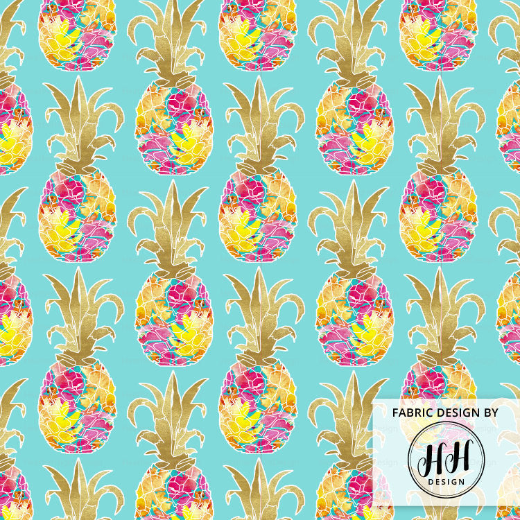 Floral Pineapple Fabric