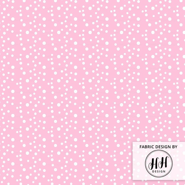 Pink Dots Fabric