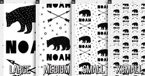 Bears & Arrows Personalized Fabric / Custom Name Fabric