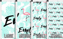 Load image into Gallery viewer, Flamingo Personalized Fabric / Girls Custom Name Fabric