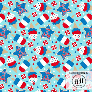 4th of July Ice Cream Fabric