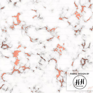 Rose Gold Vein Marble Fabric