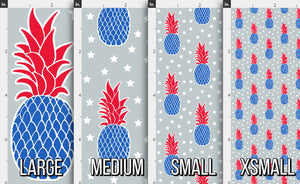 Patriotic Pineapple Fabric