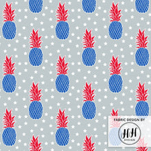 Load image into Gallery viewer, Patriotic Pineapple Fabric