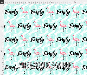 Flamingo Personalized Fabric / Girls Custom Name Fabric