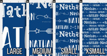 Load image into Gallery viewer, Stars & Arrows Boys Personalized Fabric / Custom Name Fabric