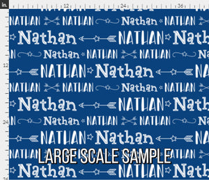 Stars & Arrows Boys Personalized Fabric / Custom Name Fabric
