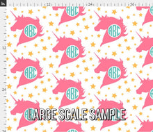 Load image into Gallery viewer, Monogram Unicorn Fabric