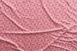 Pink Donut Sprinkles Fabric