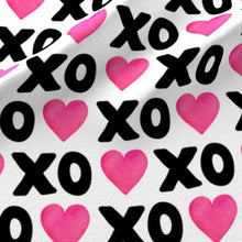Load image into Gallery viewer, XOXO Heart Fabric - Black