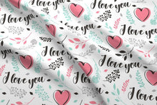 Load image into Gallery viewer, Valentines Love Fabric
