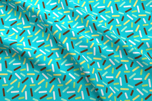 Blue Donut Sprinkles Fabric