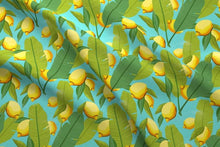 Load image into Gallery viewer, Lemon Botanical Fabric