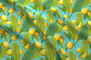Lemon Botanical Fabric