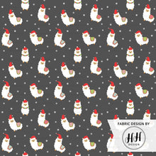 Load image into Gallery viewer, Santa Llama Fabric