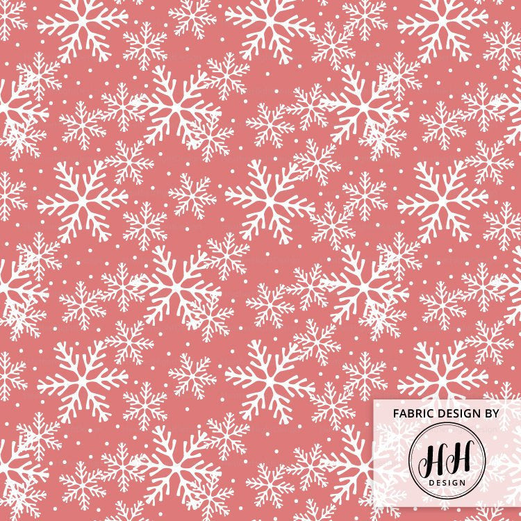 Christmas Snowflake Fabric