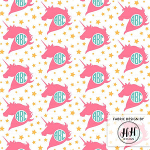 Monogram Unicorn Fabric