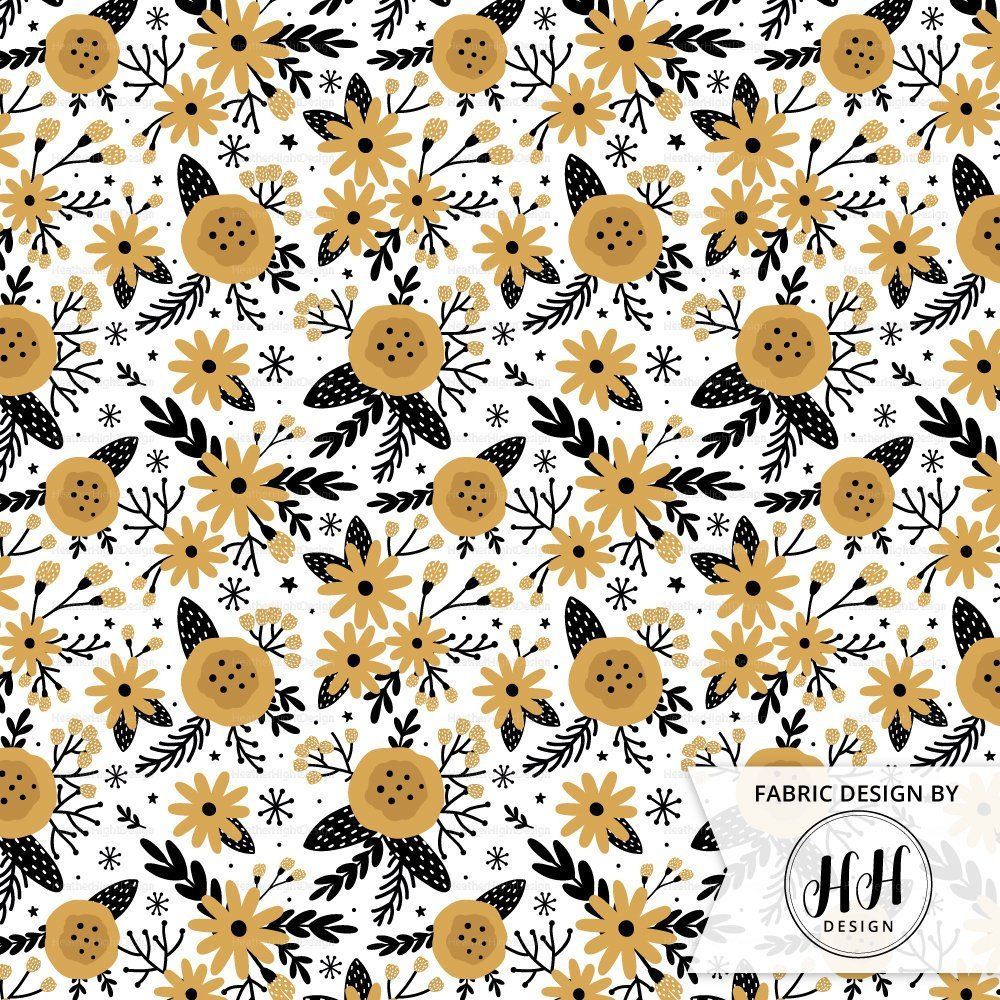 Winter Floral Fabric