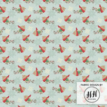 Load image into Gallery viewer, Vintage Holiday Bird Fabric