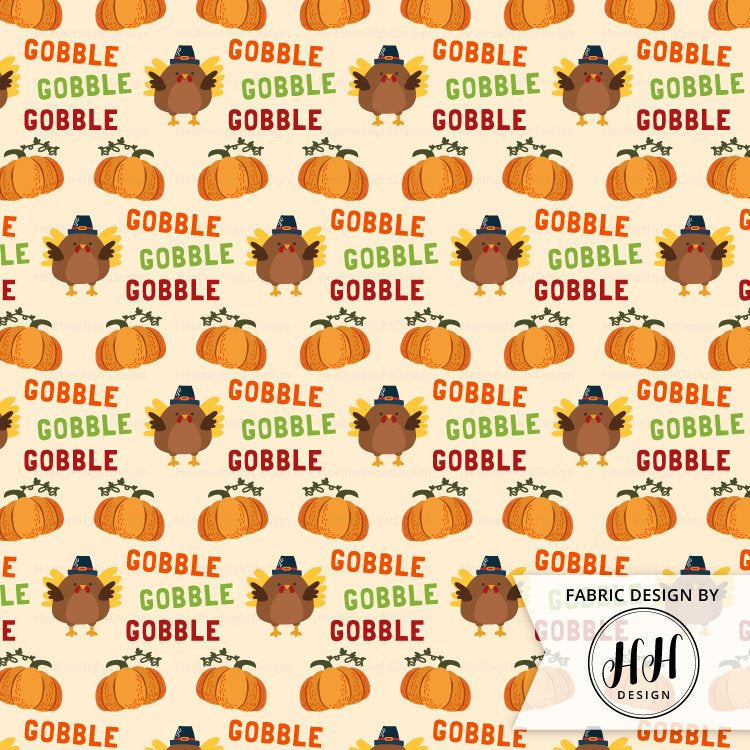 Thanksgiving Gobble Fabric