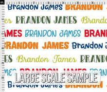 Load image into Gallery viewer, Colorful Boys Personalized Fabric / Custom Name Fabric