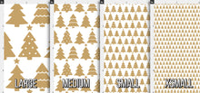 Load image into Gallery viewer, Gold Christmas Tree Fabric