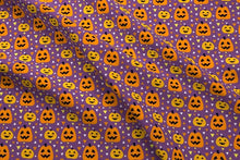 Load image into Gallery viewer, Halloween Pumpkin Fabric