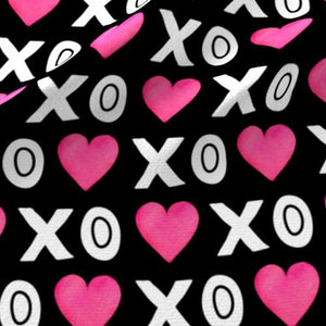 XOXO Heart Fabric