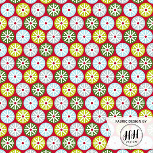Christmas Snowflake Fabric - Geometric