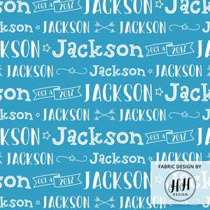 Boys Personalized Fabric / Custom Name Fabric