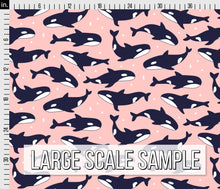 Load image into Gallery viewer, Killer Whale Fabric - Pink