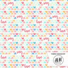Load image into Gallery viewer, Colorful Love Hearts Fabric