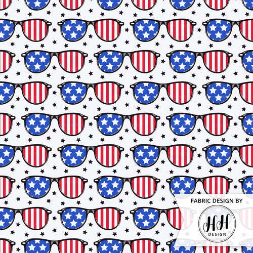 Patriotic Sunglasses Fabric
