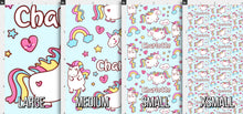 Load image into Gallery viewer, Unicorn Personalized Fabric - Blue