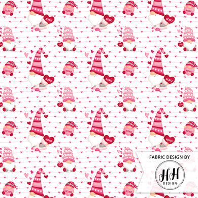 Valentine Gnome Fabric