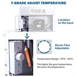 Adjustable Thermostat Northair Upright Freezer with 1.1 Cubic Feet Capacity Removable Shelf Compact Reversible Single Door Table Top Mini Freezers for Ice Cream//Breast Milk//Sea Food