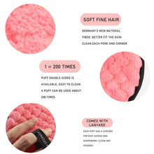 Load image into Gallery viewer, Microfiber Makeup Remover Puff