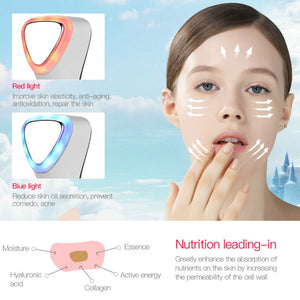 Ultrasonic Hot & Cold Facial Massager
