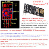 MakerFocus 2pcs ESP8266 ESP-01 Serial Wireless WiFi Transceiver Receiver Module 1MB SPI Flash