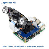 MakerFocus Raspberry Pi 2-DOF Pan-Tilt HAT for RPi Light Intensity Sensing Control Camera Movement