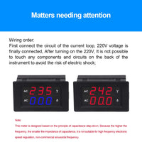 MakerFocus 2pcs Digital AC Voltage Meter 0.39inch AC100V~300V/0.00~50A