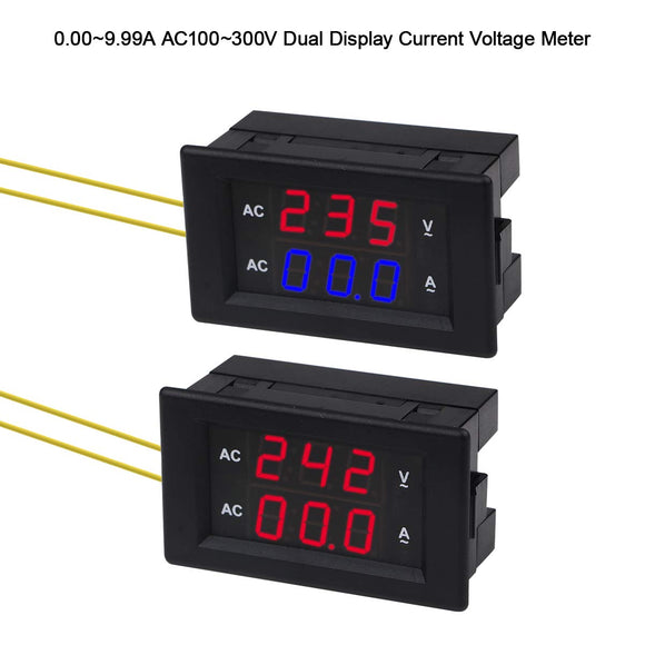 0.00~50A AC100~300V Dual Display Current Voltage Meter