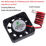 MakerFocus 4Pcs 3D Printer Cooling Fan 12V 0.08A DC 40X40X10mm with 28cm Cable