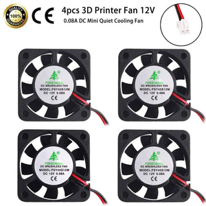 3D Printer Cooling Fan 12V 0.08A DC