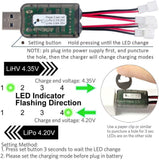 2 piece set cx405 1S lithium polymer battery USB charger 4.2 V 4.35 V Lipo lihv jst-ph 2.0 mcpx