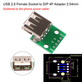 USB Type B Adapter Square Interface Female to DIP PCB Power Breakout Board Module