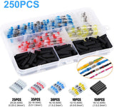 250pcs Solder Seal Wire Connector Waterproof, Heat Shrink Butt Connectors Terminals Electrical