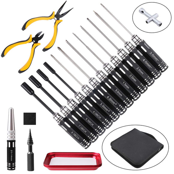 Hobbies Ce 18 In1 Reinforced Concrete Concrete Tool Box Screw Pincer Six Angles Repair An Armored