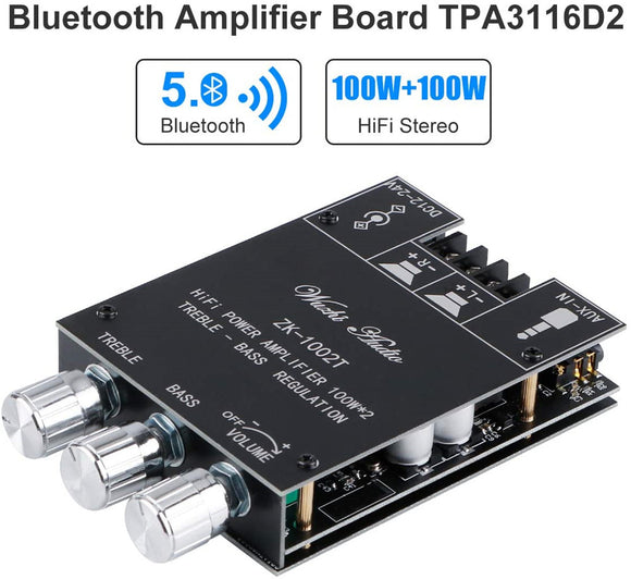 Bluetooth Amplifier Board Hifi Stereo 2.0 TPA3116D2 2X100W Audio Amplifier Module